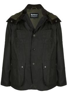 Barbour multiple pocket hooded jacket