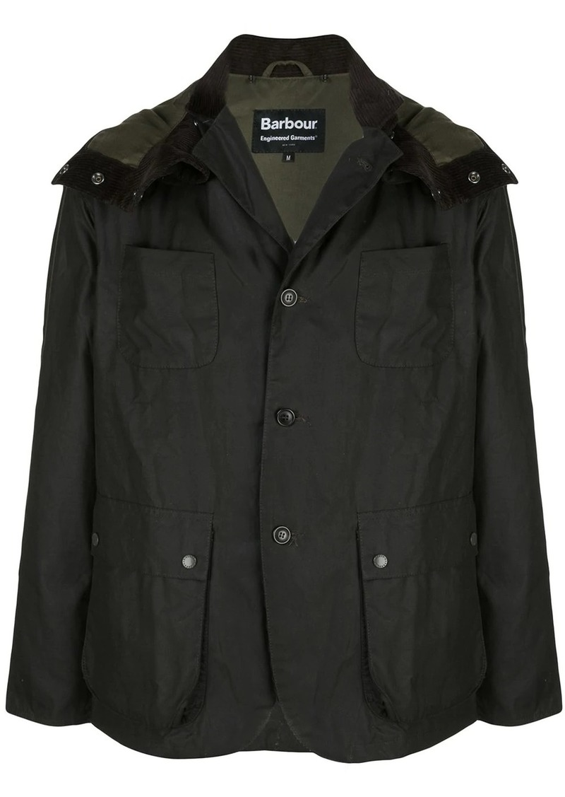 Barbour multiple pocket hooded jacket