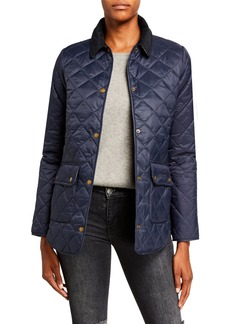 Barbour Naomi Box-Quilt Snap-Front Jacket