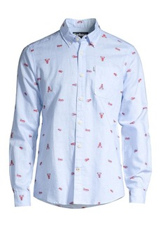 Barbour Nautical Lobster Linen-Blend Shirt
