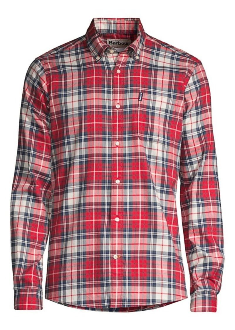 Barbour Tailored-Fit Plaid Stretch Shirt