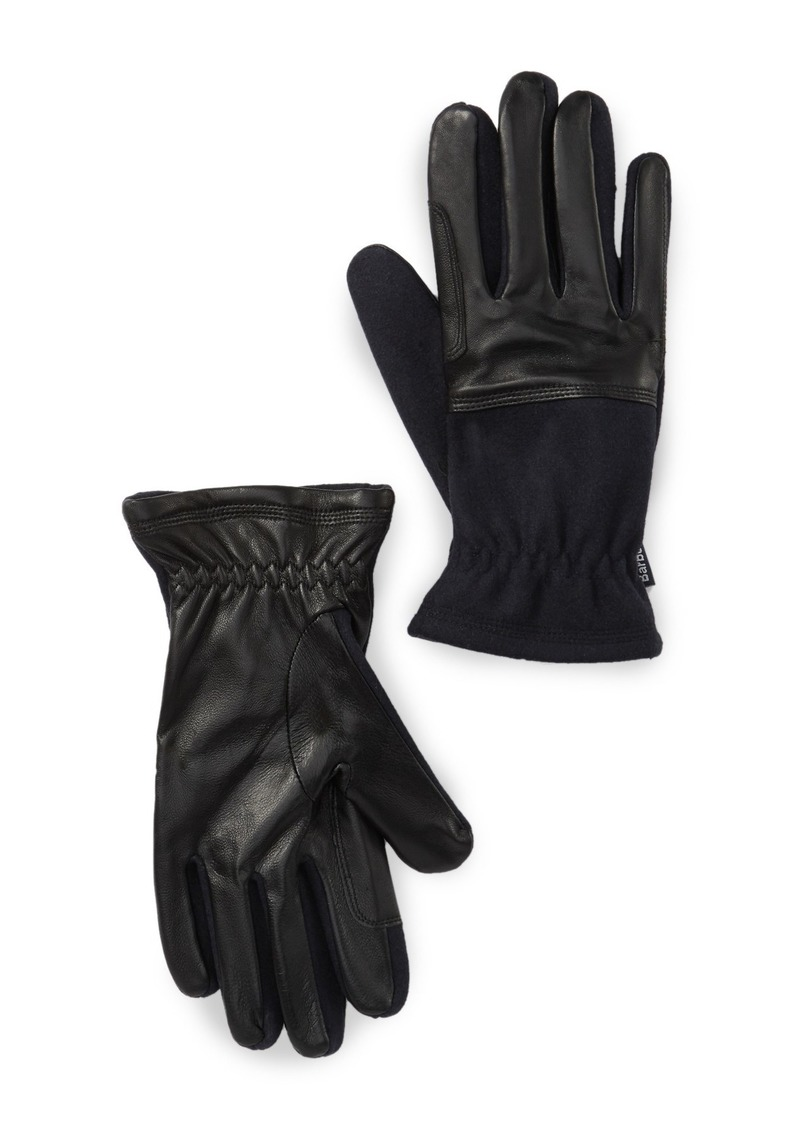 Barbour Rugged Melton Leather Gloves