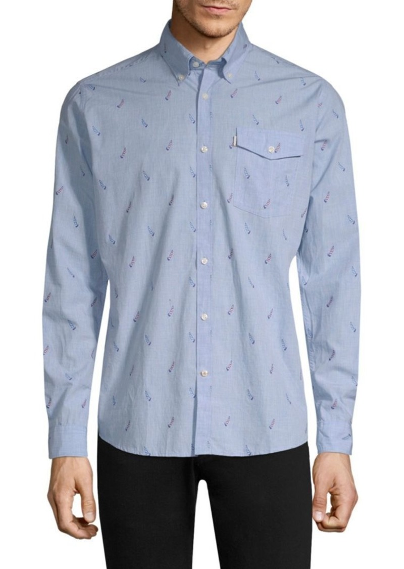 Barbour Sail Wool Button-Down Shirt