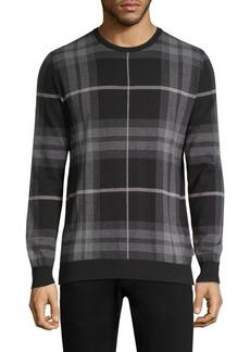 Barbour Tartan Jacquard Crewneck Sweater