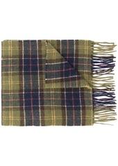 Barbour tartan knitted scarf