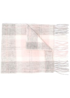 Barbour two-tone fringed scarf