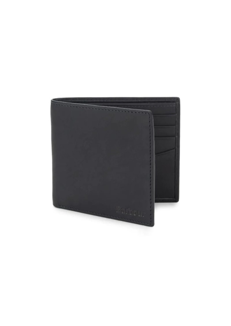 Barbour Waxed Cotton & Leather Trim Bi Fold Wallet