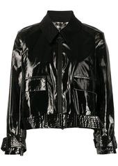 Barbour x Alexa Chung Emma PVC point-collar bomber jacket