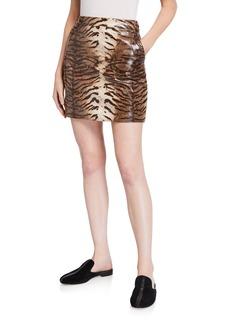 Bardot Alexis Animal-Print Skirt