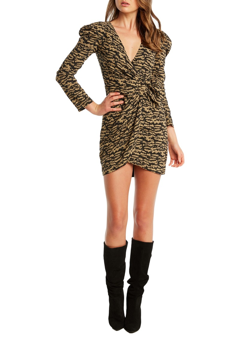 Bardot Bardo Tracey Twist Long Sleeve Minidress