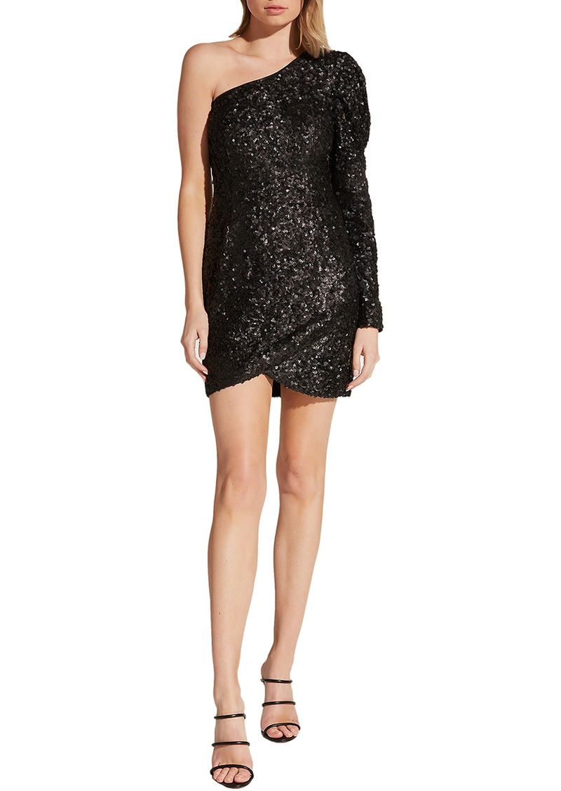Bardot Abigail One-Shoulder Sequin Cocktail Dress