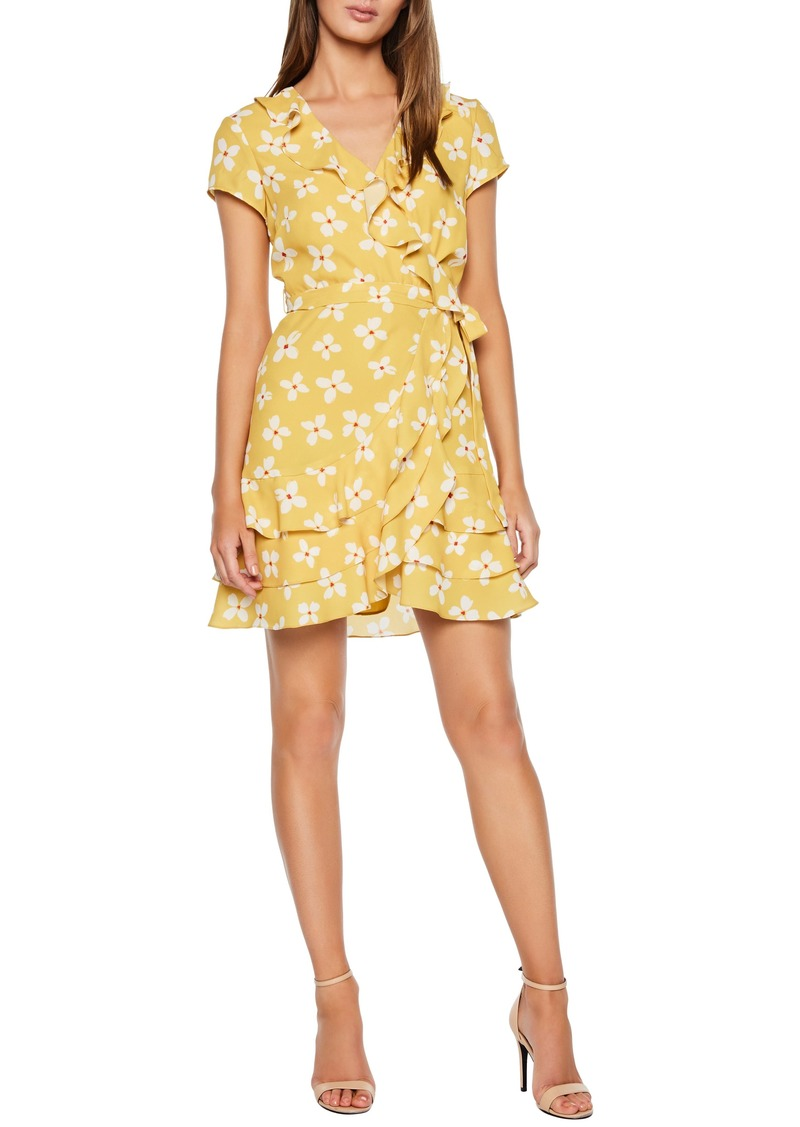 Bardot Abstract Daisy Faux Wrap Dress