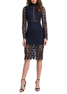 Bardot Alberta Lace Long Sleeve Body-Con Dress