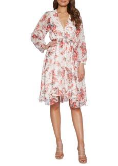 Bardot Alexi Floral Long Sleeve Chiffon Dress