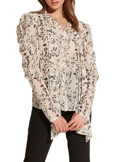 Bardot Allison Floral Mutton Sleeve Blouse