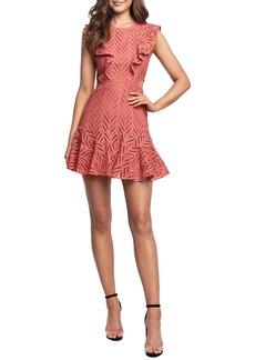 Bardot Aria Ruffle Cotton Eyelet Minidress