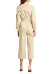 Bardot Ariana Long Sleeve Wide Leg Crop Boilersuit