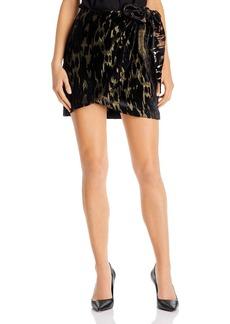 Bardot Ariella Flocked Mini Skirt
