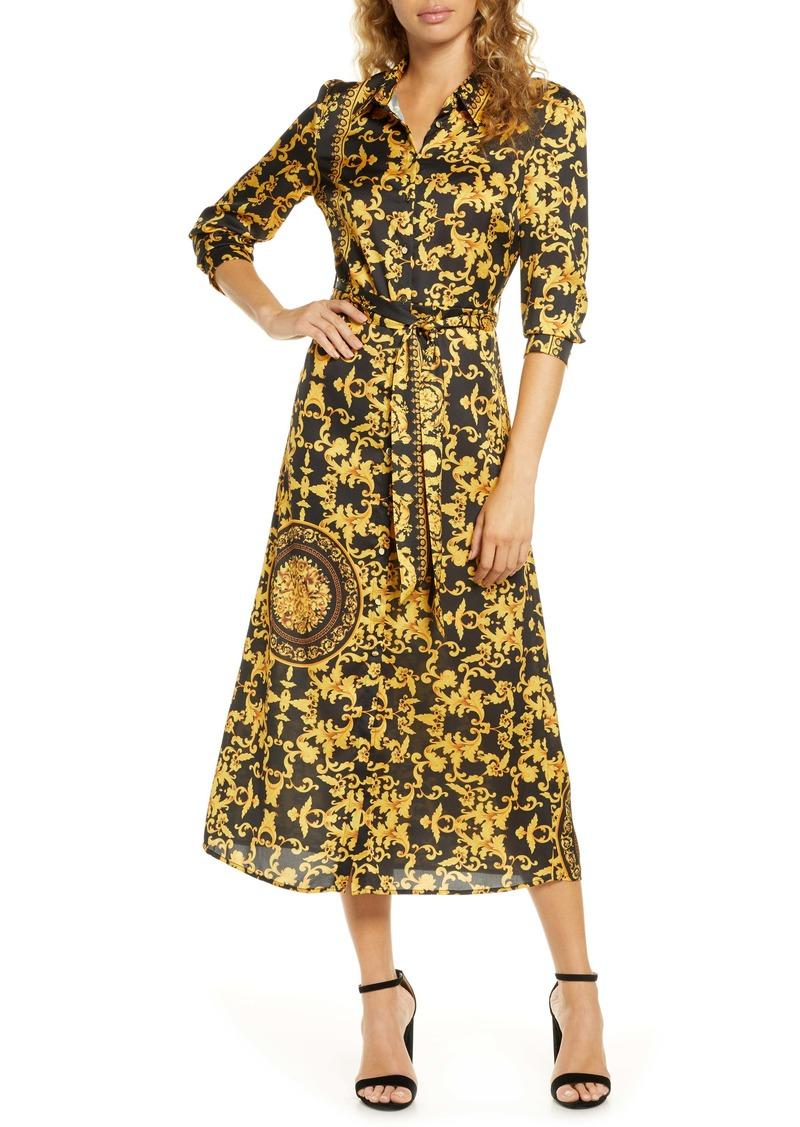 Bardot Bailey Long Sleeve Shirtdress