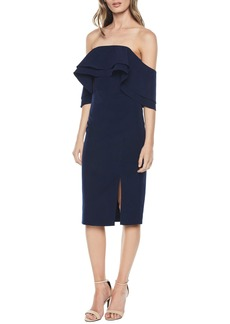 Bardot Band Ruffle Off the Shoulder Dress