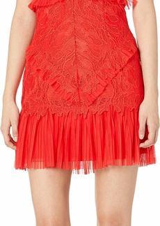 Bardot (BAU7N) Women's Round Neckline with lace Detailing Sleeveless Party Dress  M