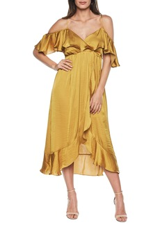 Bardot Bea Cold Shoulder Ruffle Dress