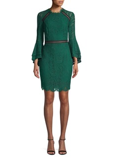 Bardot Bell-Sleeve Lace Sheath Dress<!--td {border: 1px solid #ccc;}br {mso-data-placement:same-cell;}-->