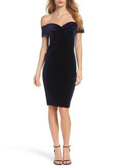 Bardot Bella Velvet Off the Shoulder Dress