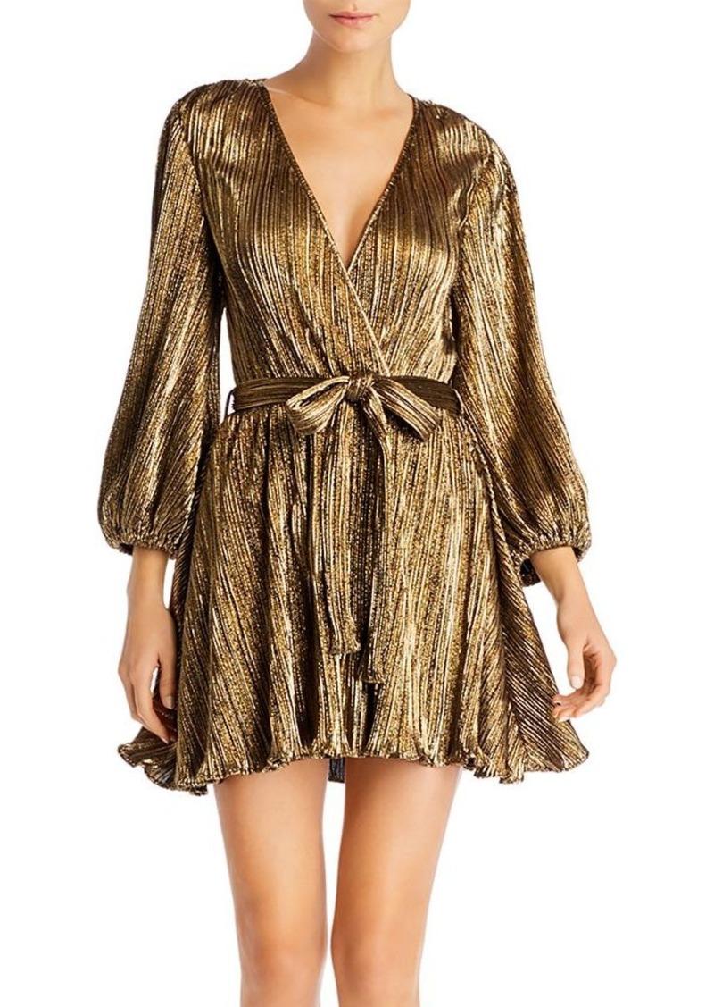 Bardot Bellissa Metallic Pliss� Dress