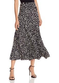 Bardot Belted Pleated Midi Skirt