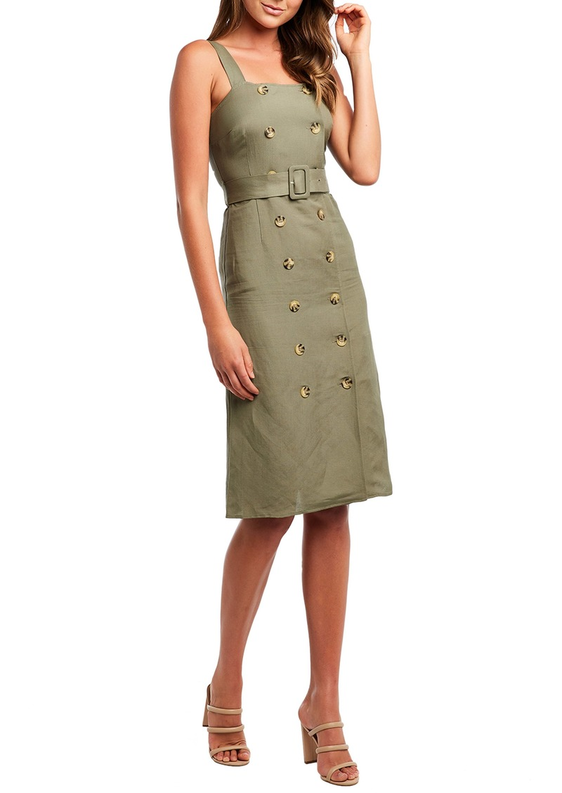 Bardot Belted Sheath Dress