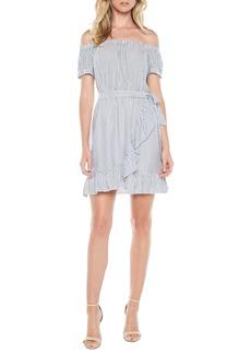 Bardot Bobbi Off the Shoulder Stripe Dress
