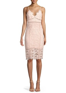 Bardot Botanica Sleeveless Lace Sheath Dress