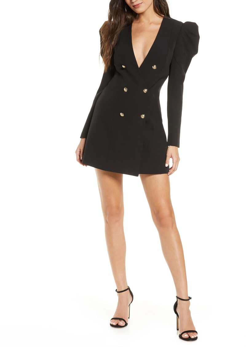 Bardot Britt Long Sleeve Plunge Blazer Dress