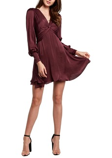 Bardot Claire Long Sleeve A-Line Minidress