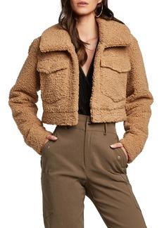 Bardot Crop Fleece Jacket