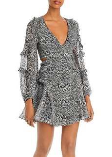 Bardot Cutout Leopard Print Dress