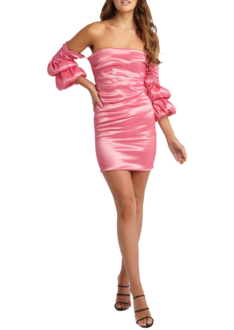 Bardot Darla Strapless Satin Sheath Minidress