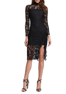 Bardot Dionne Long Sleeve Lace Cocktail Dress