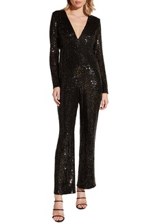 Bardot Dita Sequin Long Sleeve Jumpsuit