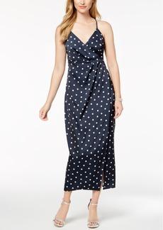 Bardot Dot-Print Wrap Maxi Dress