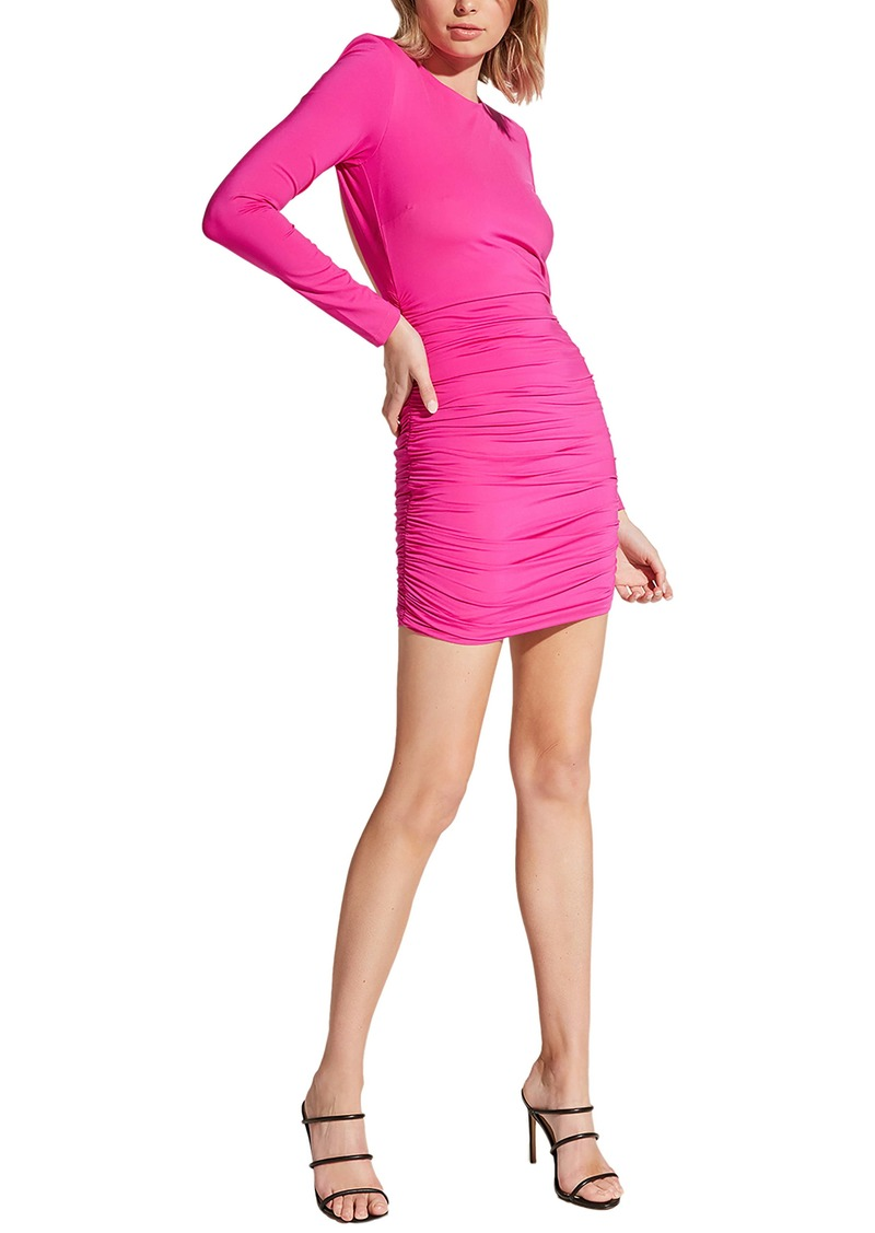 Bardot Elena Long Sleeve Back Cutout Body-Con Dress