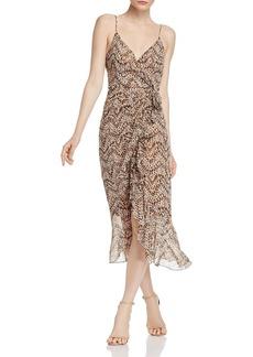 Bardot Ellie Animal-Print Faux-Wrap Dress