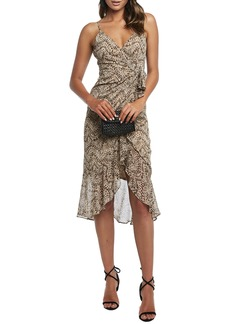 Bardot Ellie Faux Wrap Chiffon Dress