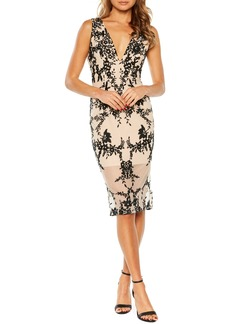 Bardot Embroidered Body-Con Dress