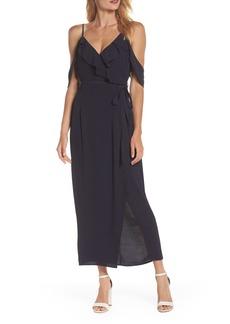Bardot Enzo Cold Shoulder Faux Wrap Dress