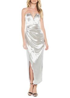 Bardot Eri Strapless Satin Gown