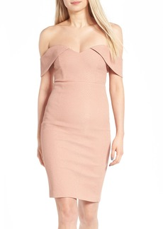 Bardot Eva Off the Shoulder Body-Con Dress