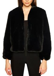 Bardot Evening Faux Fur Jacket
