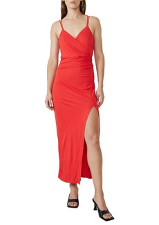 Bardot Faux Wrap Midi Dress